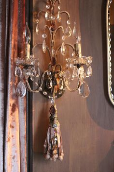 Romancing the Home - embellishing a sconce