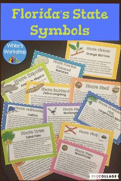 Florida Symbols for Florida Fourth Graders Cards and Activities