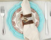 Leather & Lace - Napkin Ring