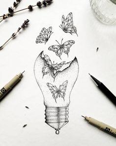 Art Drawings Sketches Simple, Pencil Art Drawings, Tattoo Drawings, Cool Drawings, Animal Drawings, Cute Tattoos, Body Art Tattoos, Small Tattoos, Tatoos