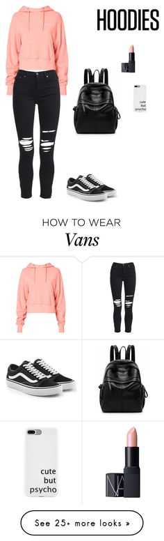 """""""Untitled #469"""" by jesica-d-psc on Polyvore featuring RE/DONE, AMIRI, Vans, NARS Cosmetics and Hoodies"""