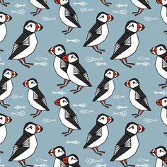 puffin andrea lauren kiwi fabrics