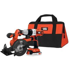 Black and Decker 20V MAX Lithium Drill and Circular Saw Kit, BDCD220CS