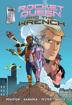 It's finally here! Rocket Queen & The Wrench #1 is available on Comixology! This is a stellar all-ages book written by  Hunter Black creator Justin Peniston, drawn by the ridiculously talented Ramanda Kamarga, colored by the awesome Rainer Petter, and lettered by Jacob Bascle. If you've got an iPad/iPhone, Android phone, Kindle Fire, or Windows 8, download the free Comixology app and pick it up for only 99¢.