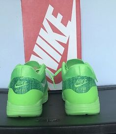 new concept 670fd b9b7e Women s Nike Air Max 1 Flyknits Voltage Green (843387 301) Size 10   eBay