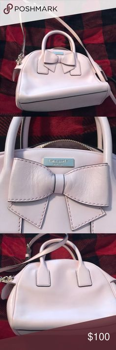 Kate Spade Purse Pink leather Kate Spade bag.   Never carried.  Brand new condition. 10 1/2 x 8 x 4. With shoulder strap kate spade Bags Shoulder Bags