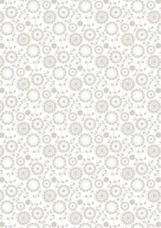 Floral Earth on White Summer Breeze, Freedom, Earth, Floral, Fabric, Home Decor, Blanco Y Negro, Liberty, Tejido