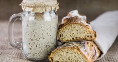 Making your own sourdough starter is as simple as combining water and flour and waiting for the naturally occurring yeast in the air to collect. Sourdough starter made with wild yeast results in flavorful loaves, and it's easy to make and maintain… Sourdough Recipes, Sourdough Bread, Bread Recipes, Baking Recipes, Types Of Flour, Bread Baking, Bakery, Tasty, Serving Ideas