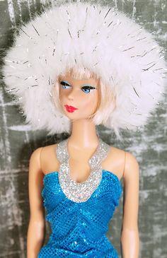 Barbie White Lurex Fur Shawl and Hat
