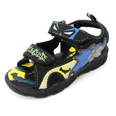 2ddcd047499c Batman Boys Black Lighted Sports Sandals Shoes BMS603 7 8 9 10 11 12  Toddler Kid  DCComics  Sandals