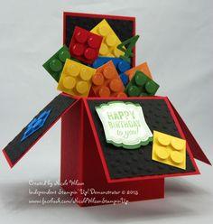Ideas for baby boy cards handmade diy fun Card In A Box, Pop Up Box Cards, Card Boxes, Lego Birthday, Kids Birthday Cards, Birthday Box, Happy Birthday, Boite Explosive, Baby Boy Cards Handmade