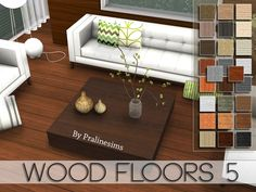 This set contains 5 wood floors.  Found in TSR Category 'Sims 4 Walls & Floors Sets'