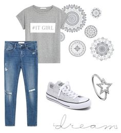 """:)"" by abecic ❤ liked on Polyvore featuring мода, WallPops, MANGO, Zara, Converse и KC Designs"