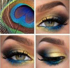 Peacock inspired eye-make up Super Pretty To Do With Mineral Makeup Pretty Makeup, Love Makeup, Makeup Art, Makeup Tips, Beauty Makeup, Gorgeous Makeup, Makeup Ideas, Dark Makeup, Makeup Blog