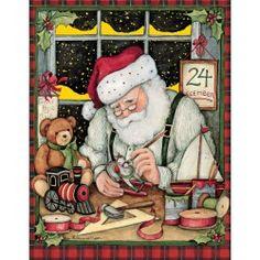 Santa's Workshop Boxed Christmas Card