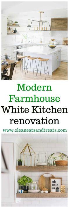 Clean Eats Farmhouse White Kitchen | Clean Eats & Treats