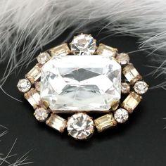 Strassbrosche Crystal/Kristallklar - Gablonz/Böhmen - Unikat
