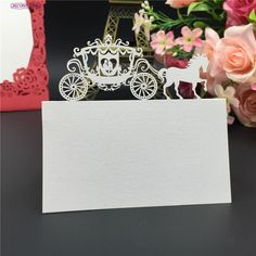 40 Piece Pumpkin Carriage Dream Laser Cut Wedding Party Table Name Place Cards Table Name Cards, Name Place Cards, Wedding Place Cards, Card Wedding, Wedding Favors Cheap, Wedding Gifts, Wedding Invitations, Party Table Decorations, Wedding Decorations
