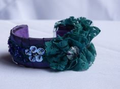 Items similar to Purple Satin and Green Lace Handmade Statement Cuff Bracelet on Etsy Purple Satin, Green Lace, Cuff Bracelets, Trending Outfits, Unique Jewelry, Handmade Gifts, Pretty, Vintage, Fashion
