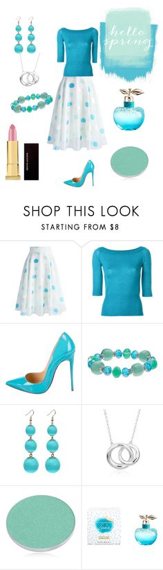 """""""Hello Spring 🌷"""" by coolb92 on Polyvore featuring Chicwish, Antonio Marras, Christian Louboutin, Napier, Blue Nile, Chantecaille, Nina Ricci, Kevyn Aucoin and Blue"""