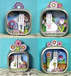 Someday Crafts: Guest Blogger - 365 Cat Ladies and Friends - Desktop Dioramas