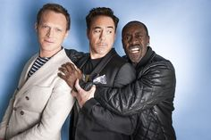 Paul Bettany, Robert Downey Jr. and Don Cheadle, Team Iron Man (by Mark Royce).