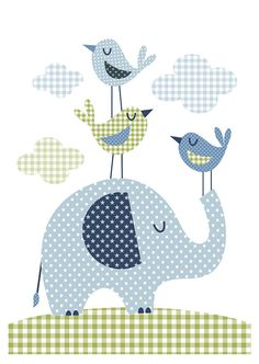 Nursery art boy baby boys print set patchwork by BubbleGumYears