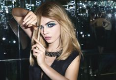 Cara for the new YSL Couture Palette campaign #ysl #makeup #feelunique