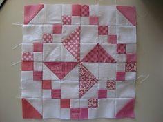 "Pinwheel with tutorial.  12"" block"