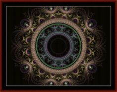 FR-288 - Fractal 288 - All cross stitch patterns - - Abstract - Fractals - Graphic Art - Whimsical - Cross Stitch Collectibles