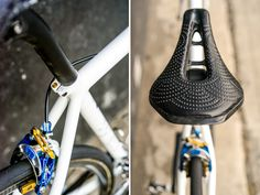 "Busyman Bicycles custom leather work on Prova cycles Razzo custom steel road bike, featured in Cycling Tips ""Bikes of the Bunch"""