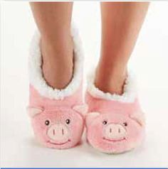 Sock it to Me Boston - PIG Slippers by Snoozies, $15.00 (http://www.sockittomeboston.com/pig-slippers-by-snoozies/)