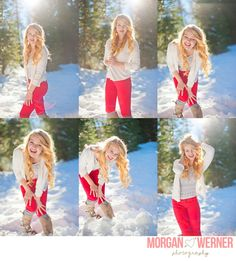 Morgan Werner Senior Photography | Senior in the Snow