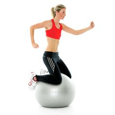 Core strength: Stability ball with arms - Women's Running
