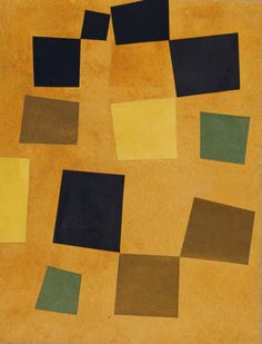 "museumuesum: "" Jean (Hans) Arp Untitled (Squares Arranged according to the Laws of Chance), 1917 Cut-and-pasted colored paper on colored paper, 13 x 10 inches """