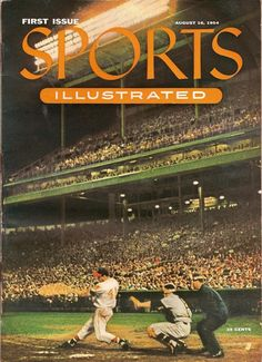 This is the cover of the first issue of Sports Illustrated. Starting around the same time as television, this magazine filled a niche audience to stay relevant. The fact that it would grow to a monthly circulation of 3.2 million by 2010, shows how magazines influenced a culture obsessed with sports.