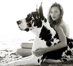 Kate Moss & Harlequin Great Dane :: Dogs in Vogue