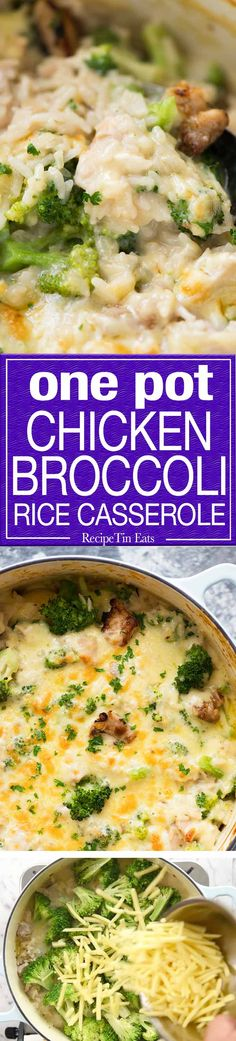 Made-from-scratch creamy, cheesy Chicken Broccoli Rice Casserole made in ONE POT! Tastes like risotto, but so much more straight forward to make.