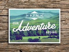 Green Mountain Save the Date Postcard // Mountain Wedding White Mountains New Hampshire Wedding Vintage Postcard Save the Dates Cards by factorymade on Etsy https://www.etsy.com/listing/214680123/green-mountain-save-the-date-postcard