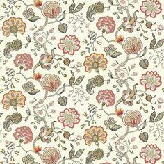 Spumante Floral Coral by Kasmir