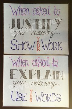 Set of 2 Classroom Poster Printables Justify Your Reasoning 5th Grade Classroom, Fourth Grade Math, Middle School Classroom, Classroom Posters, Future Classroom, Classroom Ideas, Classroom Board, Classroom Organization, Third Grade