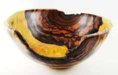 Wood Bowl No130509  Cocobolo Natural Edge by conreysa on Etsy, $160.00