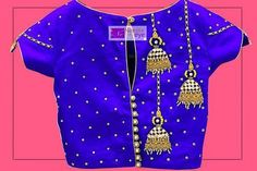 Every design has a story to tell. This is a gorgeous blue blouse designed for a little client with some beautiful jhumka work on it.  21 April 2017