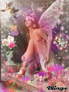 flowers for an angel images Pictures Of Spring Flowers, Flower Pictures, Angel Images, Angel Pictures, Happy Birthday Fairy, Angel Artwork, Butterfly Fairy, Angels In Heaven, Heart Wallpaper