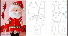 Bellos adornos decora tu hogar. Felt Christmas, Christmas Holidays, Christmas Crafts, Christmas Decorations, Christmas Patterns, Felt Templates, Gnome, Felt Animals, Creative Crafts
