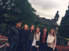 Kirsty Richard '17- Fall 2015 -IFSA-Butler University of Edinburgh Parliamentary Internship  -Edinburgh, Scotland- This photo was taken one of my first days of abroad, with some of the other students in my internship program. These people became my closest friends during abroad. We lived together, worked together at Parliament, explored Edinburgh together, and traveled throughout Europe together as well. Without this group of people, my abroad experience would have been very different