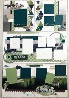 Let's Give 'em Something to Scrap About! Scrapbook Layout Sketches, Scrapbook Designs, Scrapbooking Layouts, Scrapbook Paper Crafts, Scrapbook Cards, Paper Crafting, Scrapbook Travel Album, Vacation Scrapbook, Creative Memories