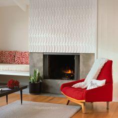 Tile - Creative Fireplace Designs - Sunset