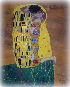 El beso, Klimt Bastidor 40x50cm.