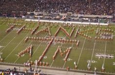 "At the last tu vs Texas A& M game, the tu band played ""Thanks for the memories"" ( Bob Hope's signature song). Texas A followed with the loghorn symbol then sawed off the horns."
